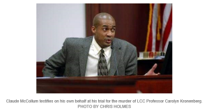 Original trial: McCollum, defendant in LCC slaying takes the stand
