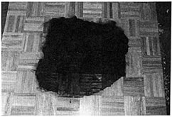 "Poole-Shaped"" Burn Pattern Produced by a Cardboard Box urning on an Oak Parquet Floor"